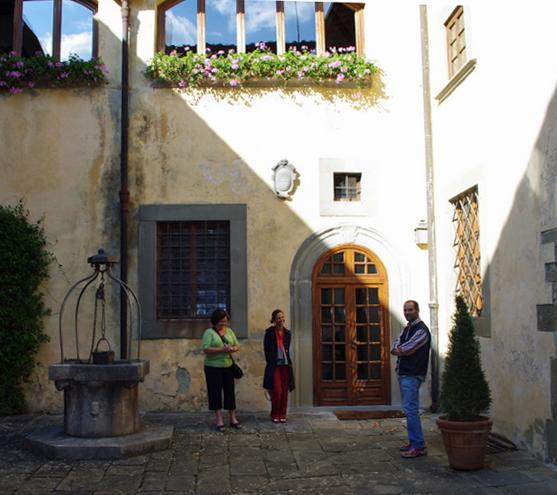 Sandro in Vignamaggio Courtyard
