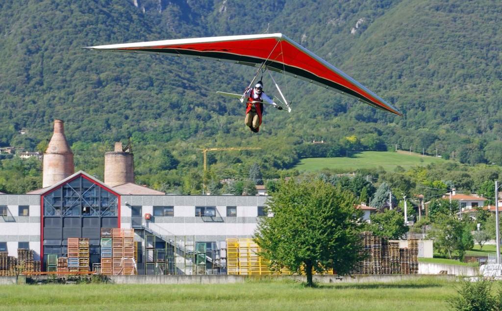 Hang Gliding near Basano del Grappa Veneto Italy