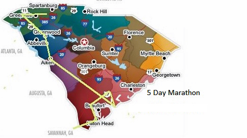 5 Day Golf Marathon in South Carolina