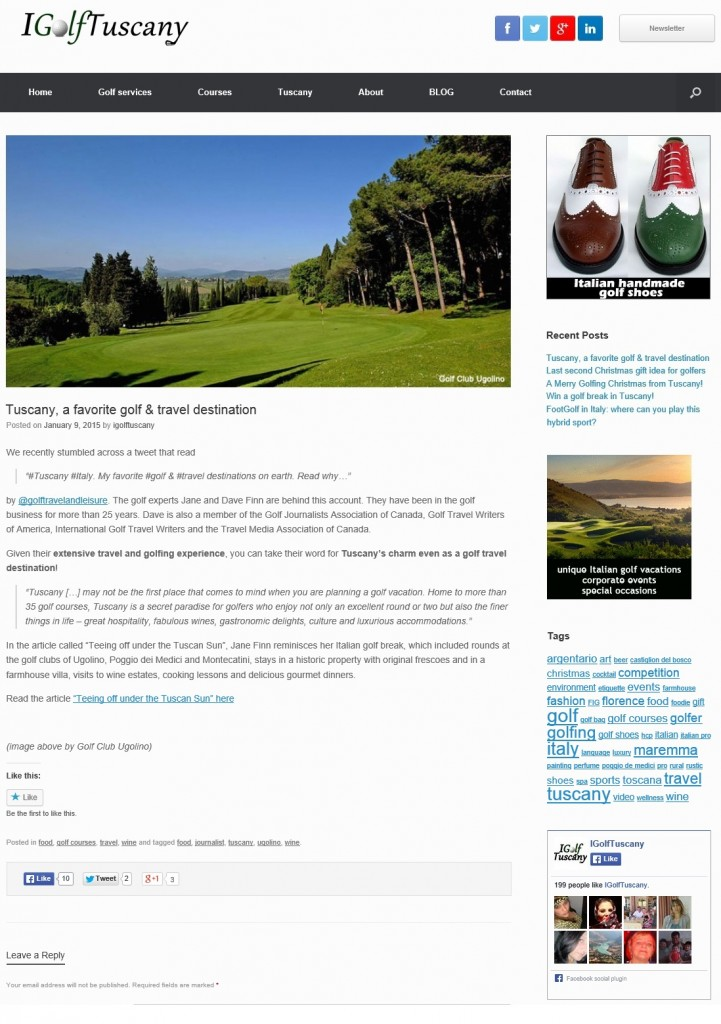 Golf in Tuscany Italy