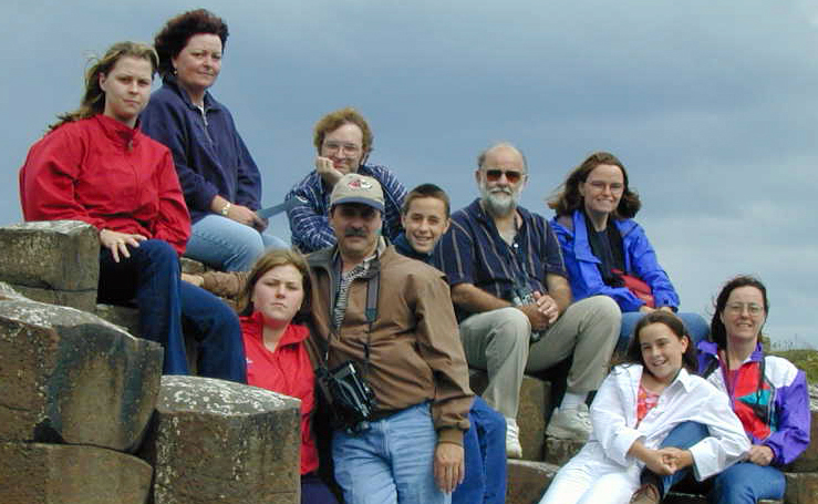 Byrne Family at the Giants Causeway in Ireland