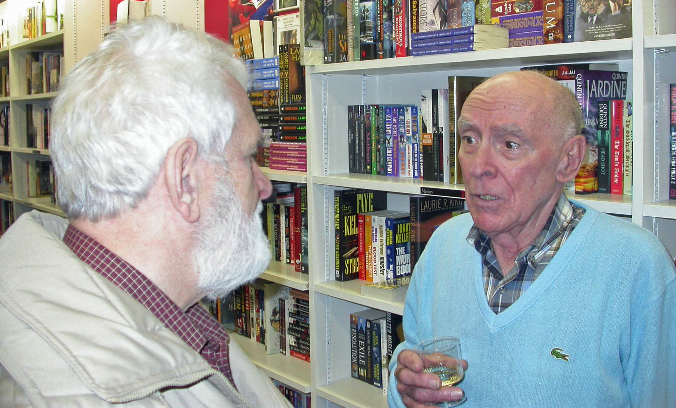 Our dads at my first book launch