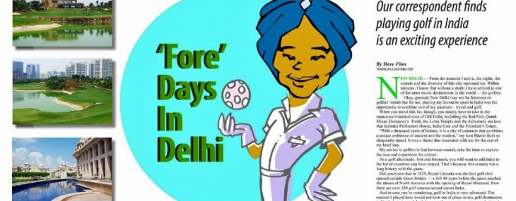 A golfer spends 'fore' days in Delhi in Travelife Magazine