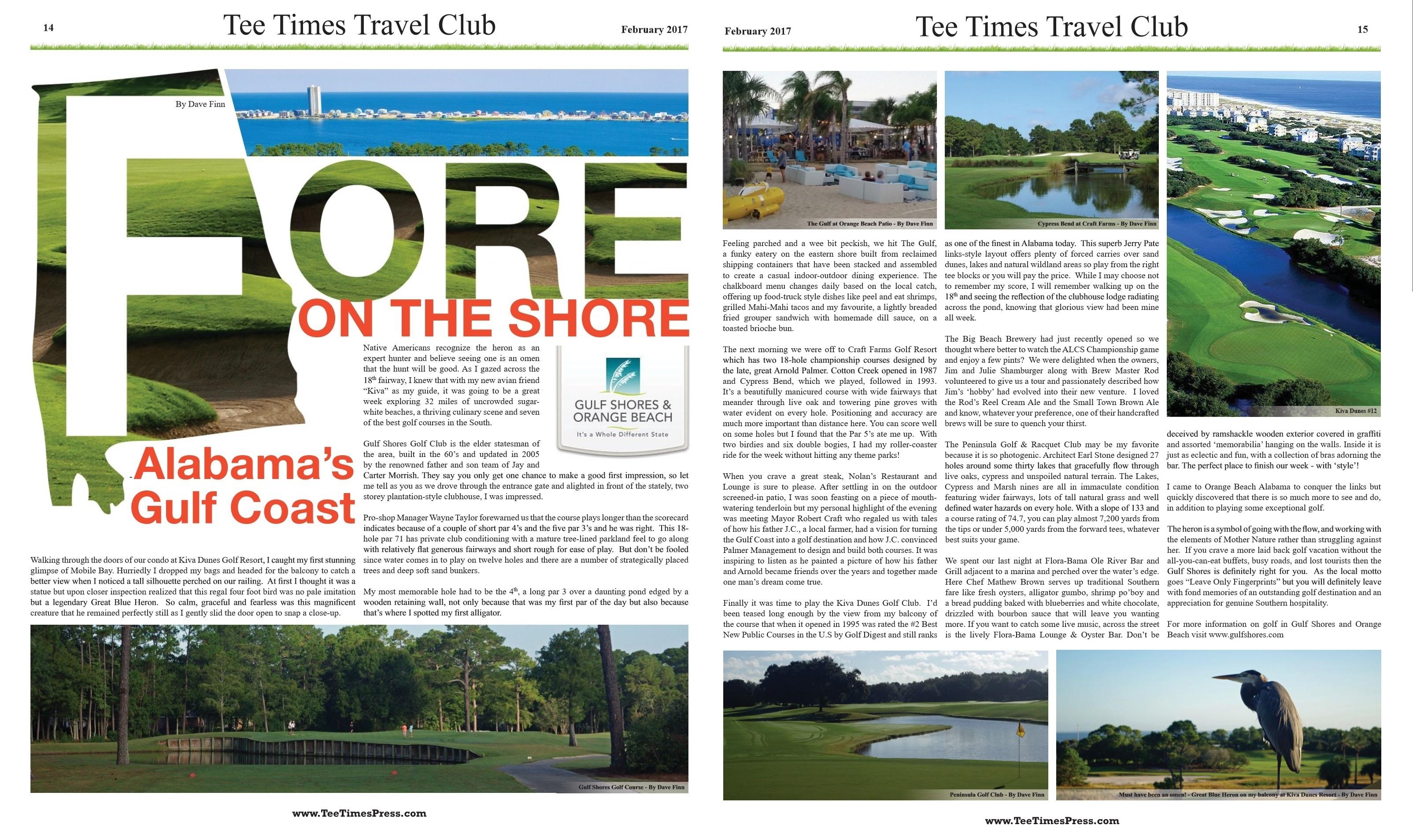 Alabama's Gulf Coast for Tee Times Minnesota February 2017