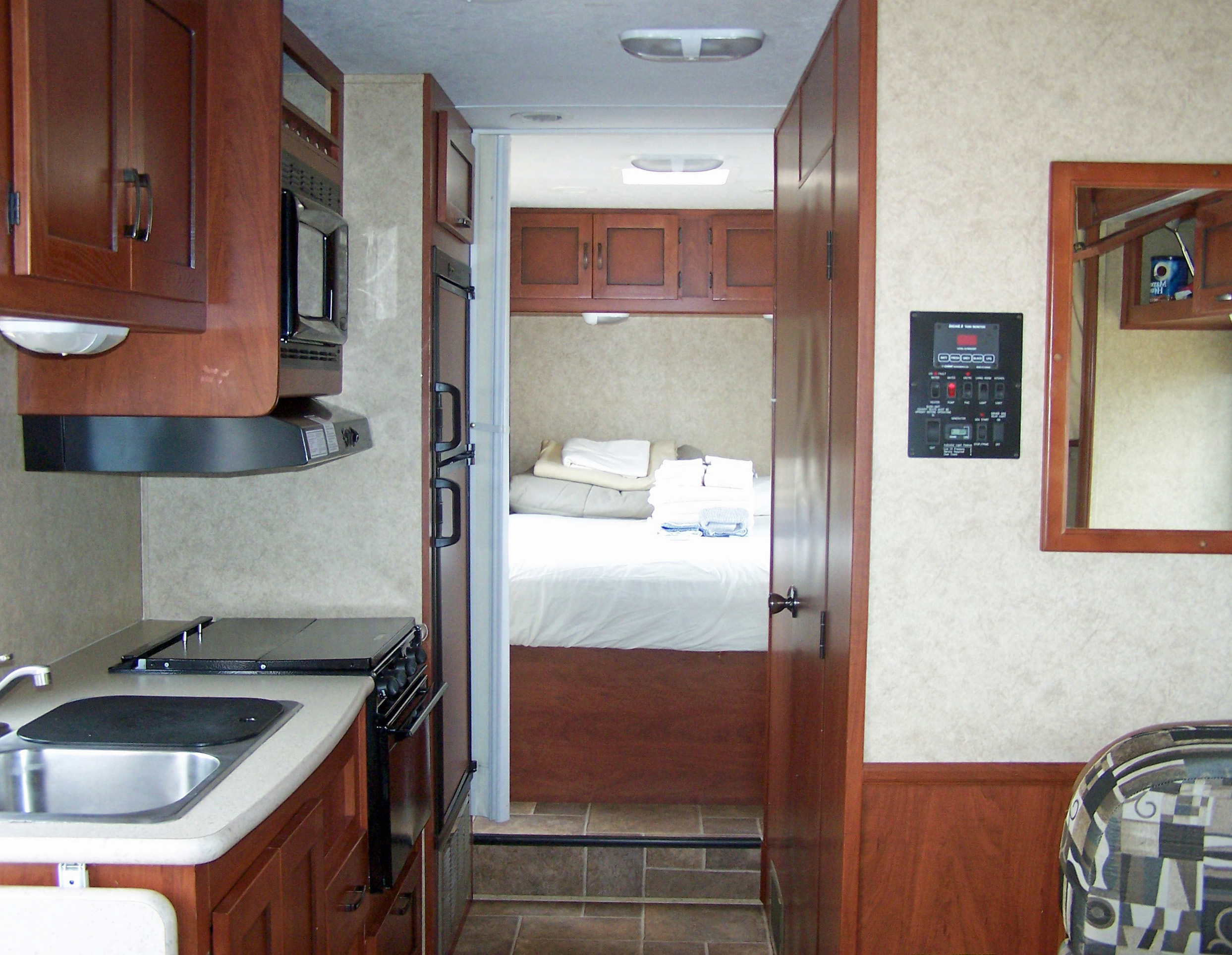 Inside our RV Motorhome