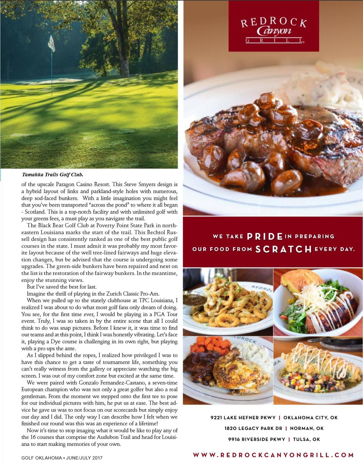 Audubon Trail for Golf Oklahoma Page 55 June/July 2017 Issue