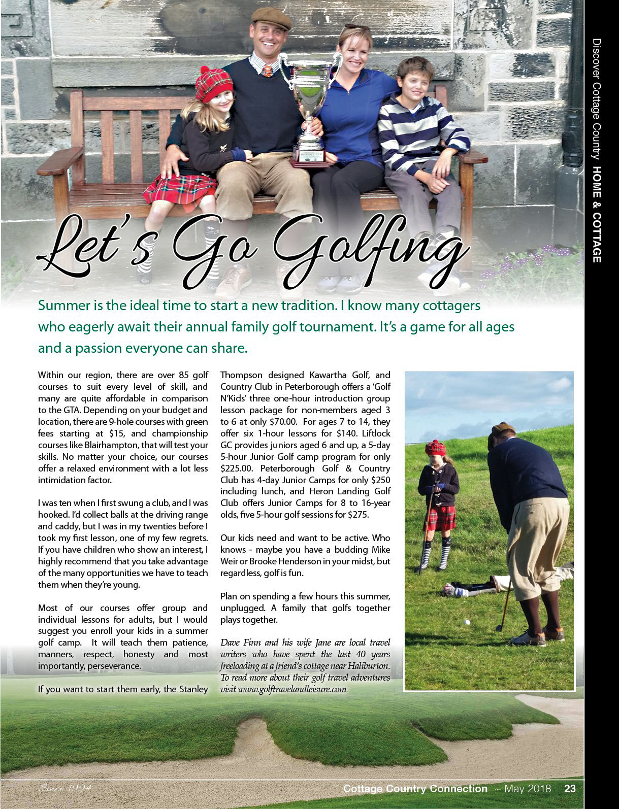 Let 39 s go golfing cottage country magazine may 2018 for Country cottage magazine