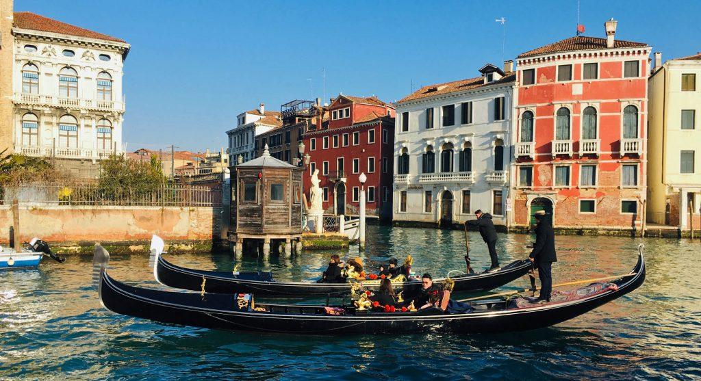 Vaporettis in Venice Italy