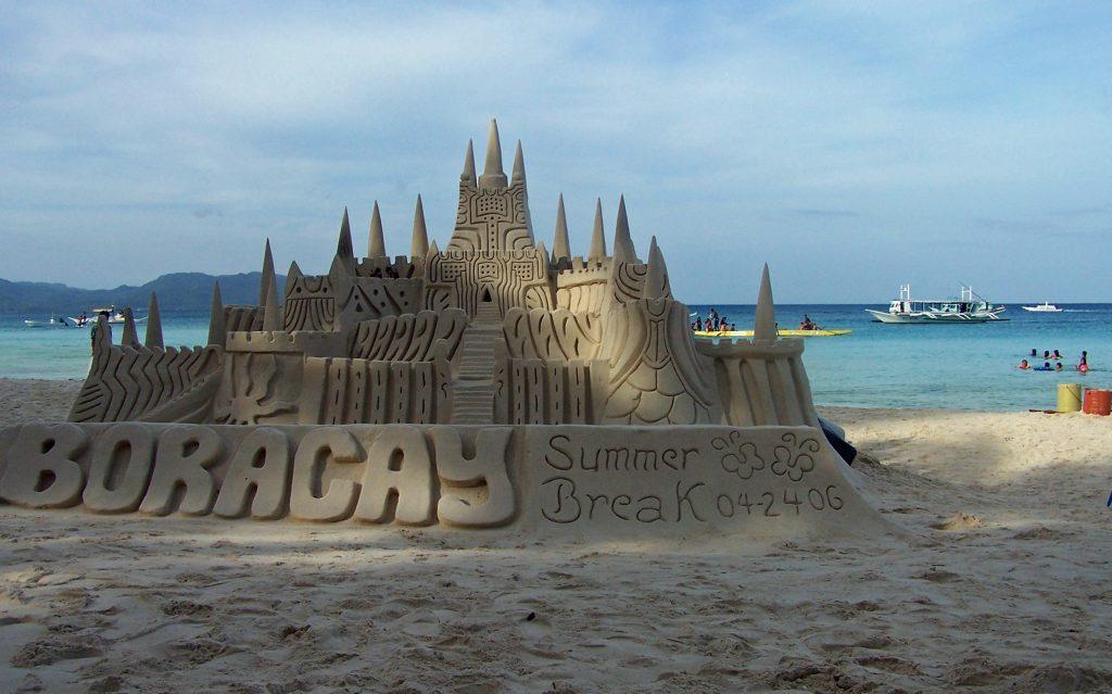 Sand castles on Boracay